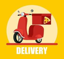 Motorcycle and courier service banner vector