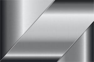 Modern silver metallic background vector