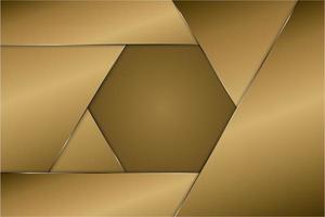 Modern golden metallic background vector