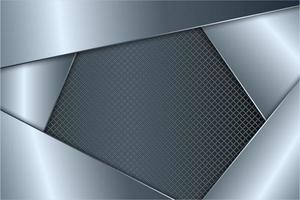 moderno fondo gris metalizado vector