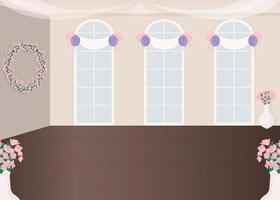 salón de bodas vector