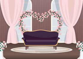 elegante zona de fotos de boda vector