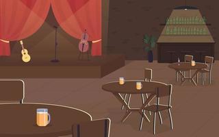 concierto de musica en pub vector