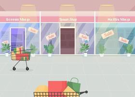 Mall during seasonal sale vector