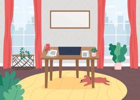 entorno de trabajo freelance vector