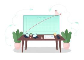 Startup development curve vector