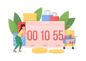 Countdown to Black friday vector