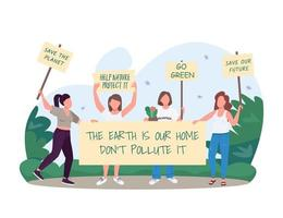 Go green banner vector