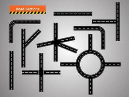road icon, Winding curved road. vector