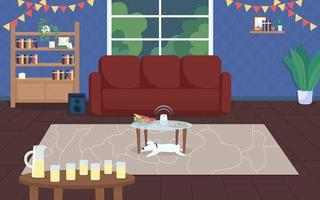 House party flat vector