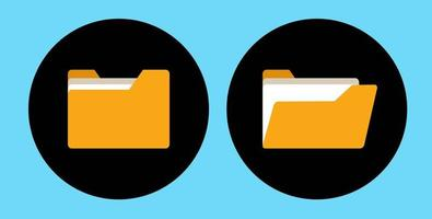 Folder Icon, Open and close vector