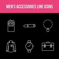 Men's Accessories App Set vector