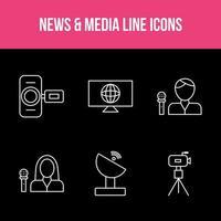 Unique News and Media App Set vector