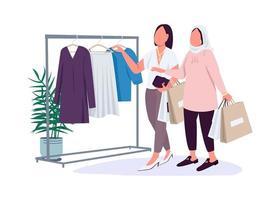 novias comprando ropa vector