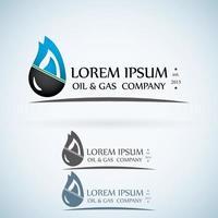 Oil gas company logo design template color set. vector