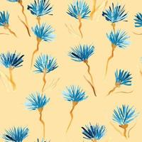 Retro background made of watercolored flowers vector