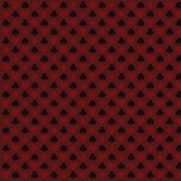Playing, poker, blackjack cards symbol red seamless pattern vector
