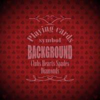 Playing, poker, blackjack cards symbol background vector