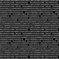 Binary computer code seamless pattern