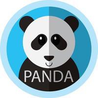 Cute Panda bear cartoon flat icon avatar
