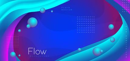 Flud Abstract Gradient Background vector