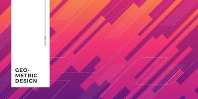 Overlapping gradient forms abstract background vector