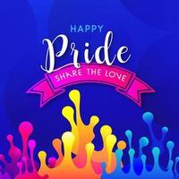 Happy Pride Day Social Media Post Design vector