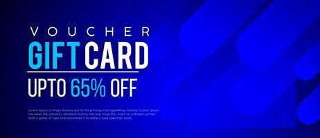 Blue Dynamic Shape Gift Voucher Discount Coupon Banner vector