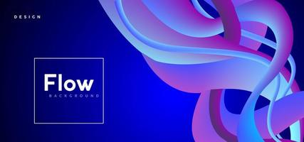 Flud Abstract Blue Purple Gradient Background vector