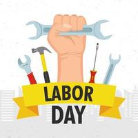 Happy labor day celebration vector