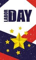 Happy USA Labor Day celebration vector