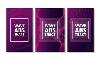 conjunto de fondo púrpura ondulado abstracto vector