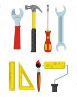 conjunto de iconos de herramientas de trabajador vector