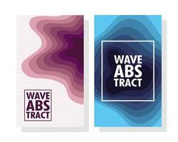 Abstract, modern wavy background set vector