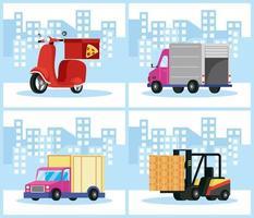 Delivery service composition set vector