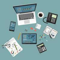 concepto de diseño de vista superior de auditoría