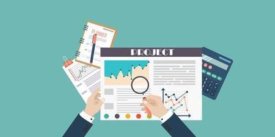 concepto de proceso fiscal de auditoría vector