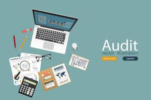 Auditing concept design vector