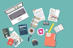 vista superior del proceso de auditoría de impuestos