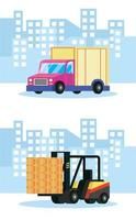 Delivery service composition vector