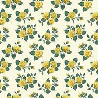 Seamless Pattern with Yellow Roses vector