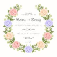 Wedding Wreath with Roses vector