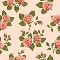 DrawBerry Single Pattern SP-002 Rose Floral Pattern Seamless Watercolor Rose Flowers Seamless Digital Pattern Paper Download PNG JPEG