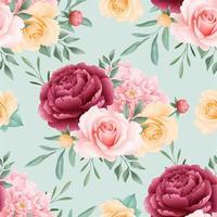rosas florales de patrones sin fisuras vector