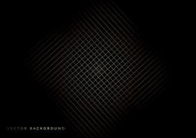 Grid golden lines pattern on black background. vector