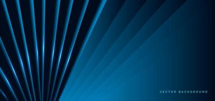 Dark blue diagonal shapes with blue light effect vector
