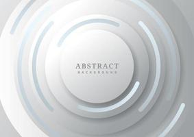 Abstract gray circles overlapping with shadow vector