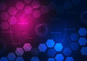 Abstract futuristic technology gear and hexagon design vector