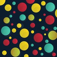 Abstract yellow, red, green black dots pattern with lines vector