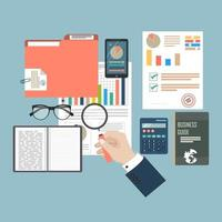 Auditing and tax process concept